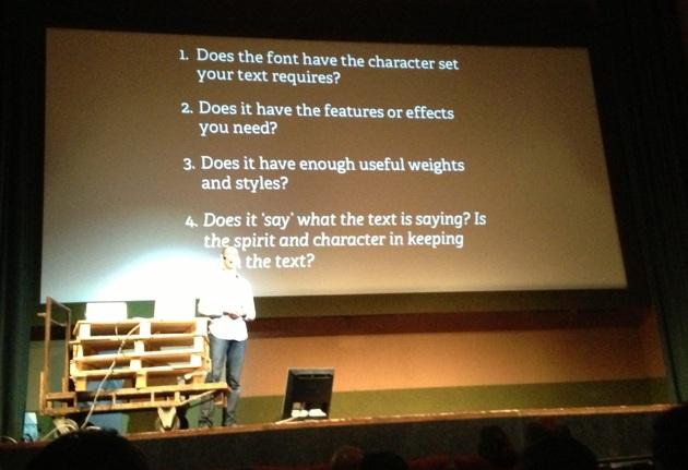Richard Rutter - Le domande prima di scegliere un font