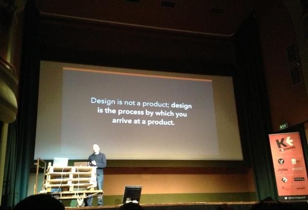 il design non è il fine, ma il mezzo